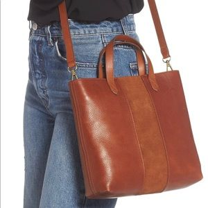 Madewell Small Transport Leather Crossbody Brown